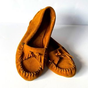 Minnetonka Moccasins Size 10 Brown Good Condition
